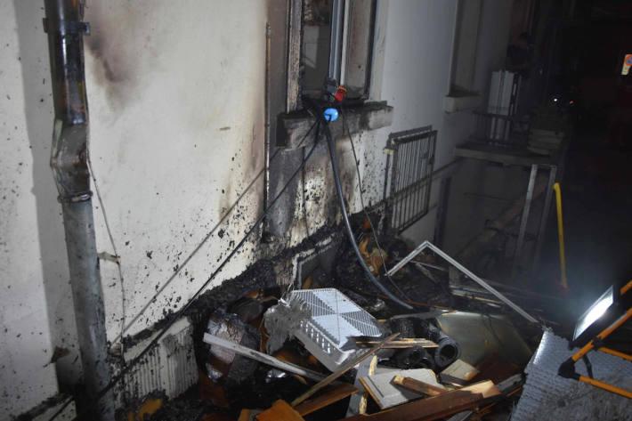 Hausfassade in Brand geraten in Rapperswil-Jona SG