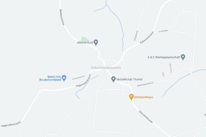 In Schönholzerswilen TG ist gestern ein Auto nach einem Ausweichmanöver von der Strasse abgekommen.