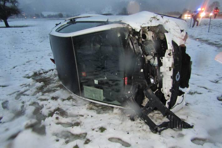 Heftiger Unfall in Niederurnen GL