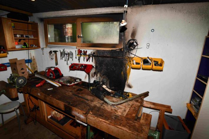 Brand in Werkstatt in Heerbrugg ausgebrochen