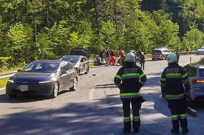 Drei Personen bei Unfall in Bad Eisenkappel verletzt