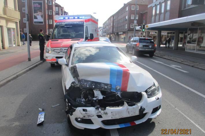 Verkehrsunfall mit drei Leichtverletzten in Wilhelmshaven