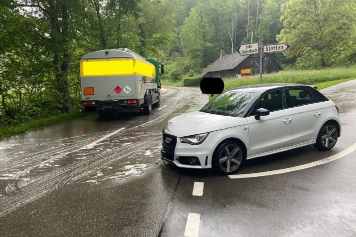 In Schaffhausen kam es heute zu einem Unfall in der Freudentalstrasse.