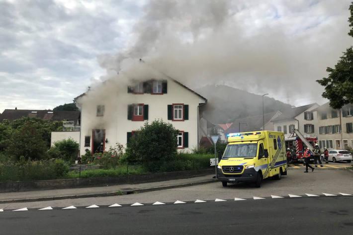 Brandfall erfordert Feuerwehreinsatz in Pratteln