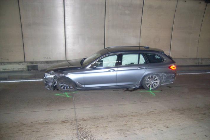Unfall im Seelisbergtunnel bei Seedorf