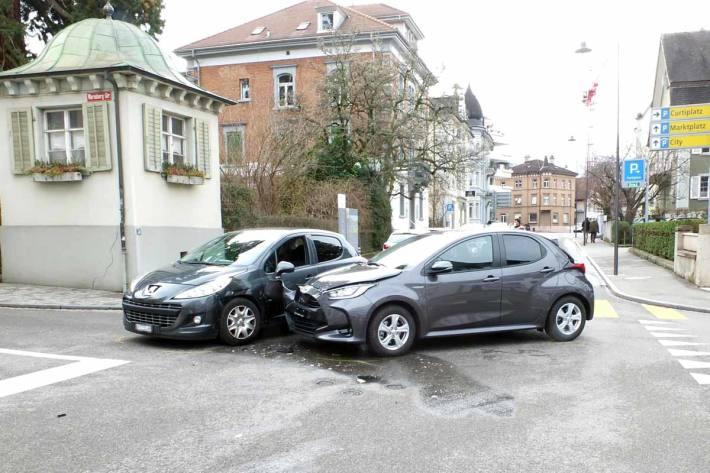 Unfall auf Kreuzung in Rorschach