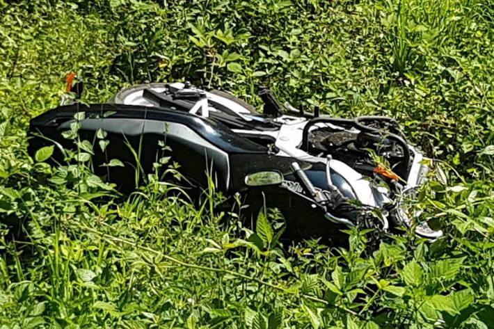 Motorradfahrer bei Unfall in Elmstein schwer verletzt