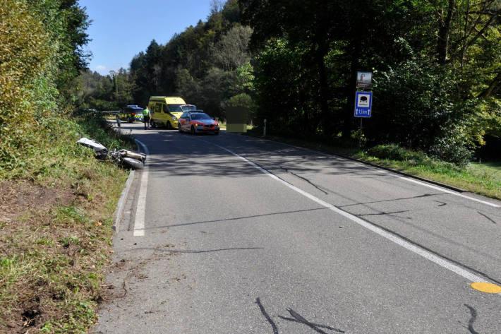 Unfall eines Motorradlenkers nach vorgängiger gegenseitiger Provokation