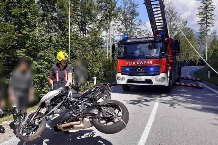 Motorradunfall in Bad Aussee