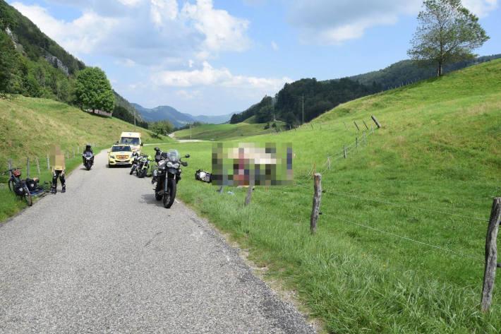 Selbstunfall mit einem Motorrad in Ramiswil