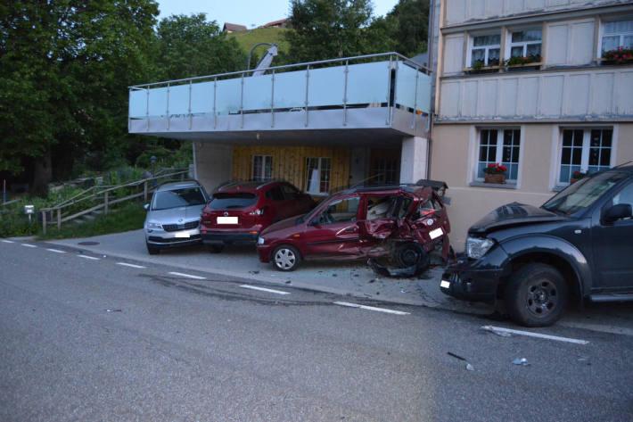 angerichteter Schaden in Schwellbrunn
