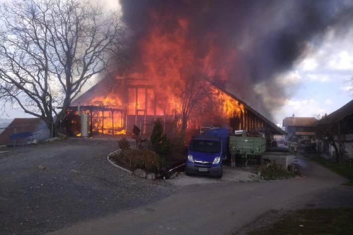 In Mühlau AG brannte es gestern lichterloh.