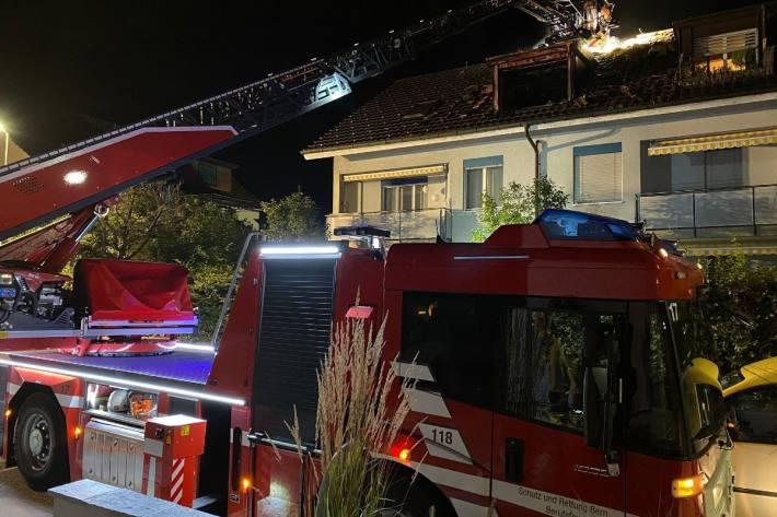 In Bümpliz BE brannte es in einem Dachstock.