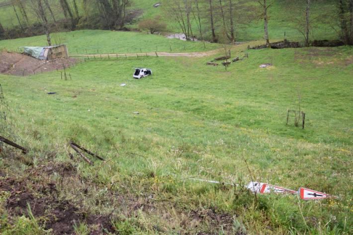 In Himmelried SO verlor gestern ein Autolenker die Kontrolle über das Auto.