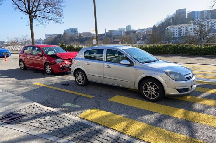 In Schaffhausen kam es heute zu einer Auffahrkollision.