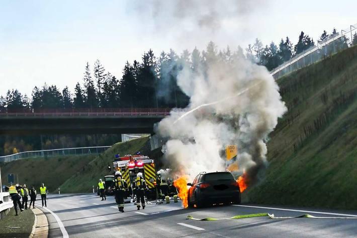 Der Brand konnte durch die Feuerwehr Longkamp schnell abgelöscht werden