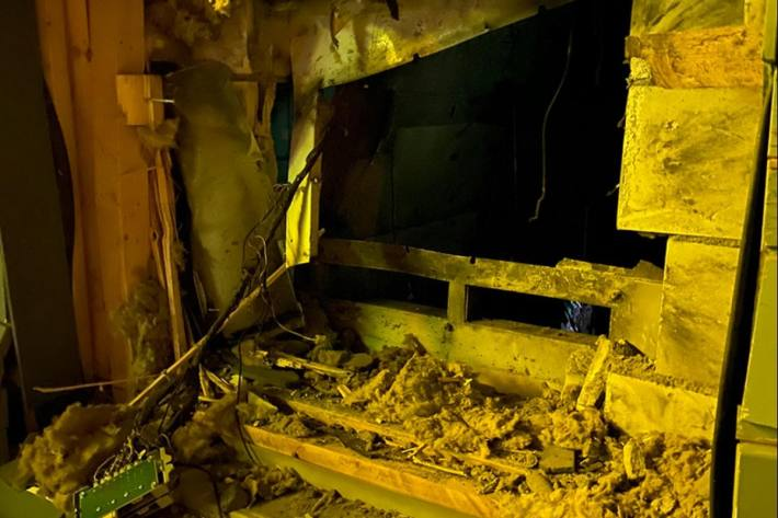 In Aesch BL wurde letzte Nacht ein Bancomat gesprengt.