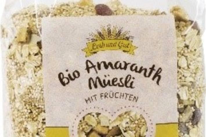 Bio Knospe Amaranth Früchte Müesli