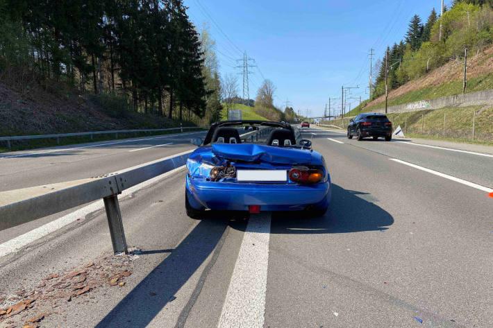 Lernfahrt endet mit Totalschaden auf der A4