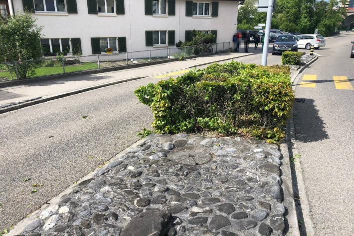 Unfallstelle in Oberuzwil