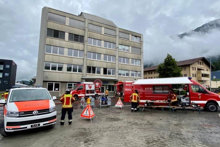 Heute musste in Mauren die Feuerwehr wegen einem Glimmbrand ausrücken.