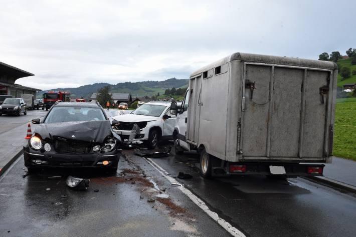 Heftiger Crash in Hasle LU.