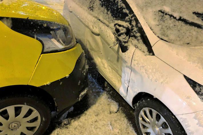 Sachschaden nach Unfall.