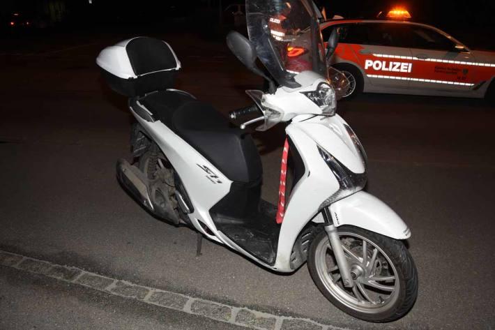 Sturz mit Motorrad in Buchs