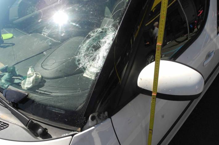 Unfallfahrzeug bei Gersau