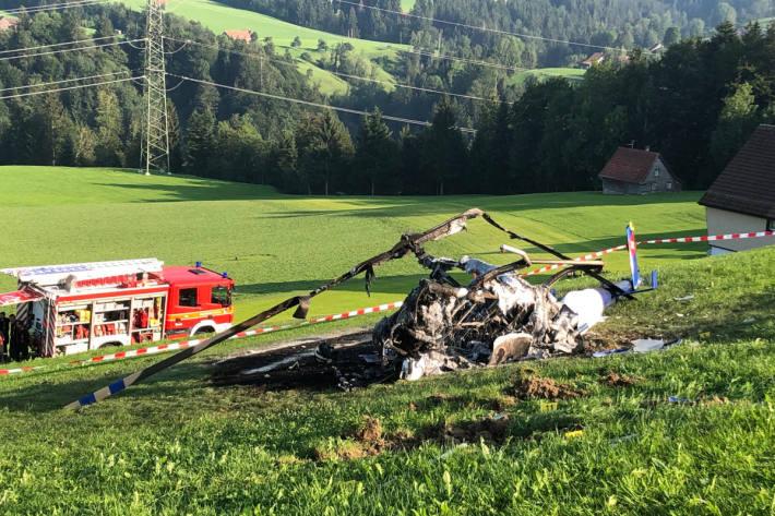 Abgestürzter Helikopter