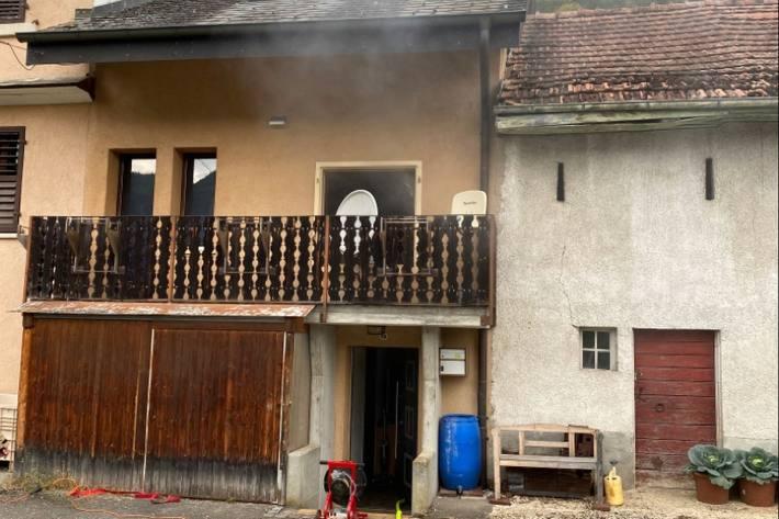 In Liesberg BL brannte es heute.