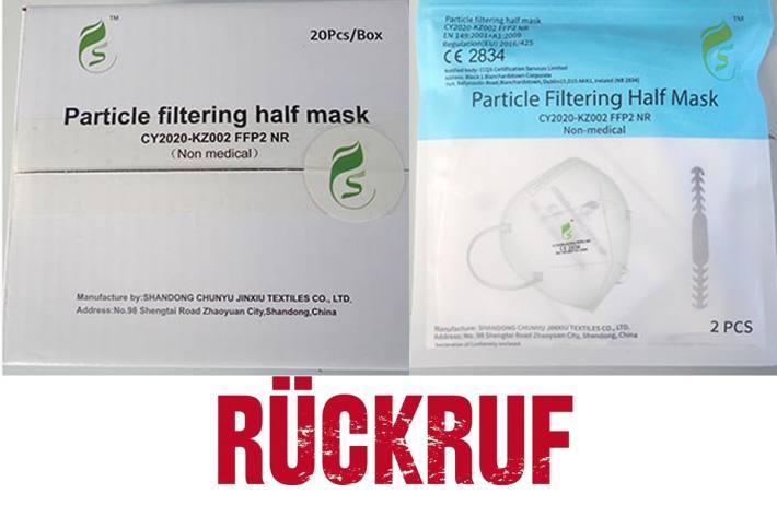 Rückruf von FFP2-Atemschutzmaske CY2020-KZ002