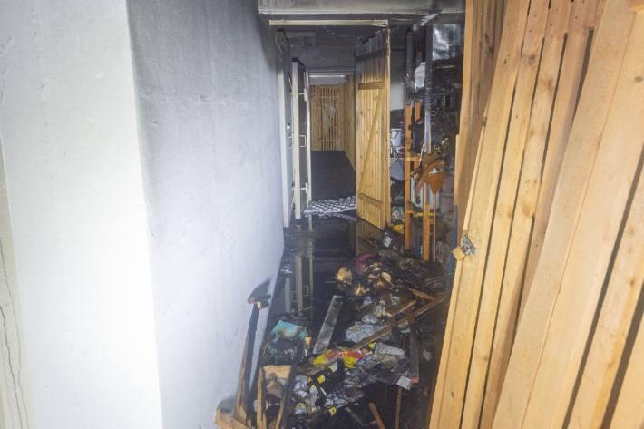 In Chur brannte es gestern in einem Mehrfamilienhaus.