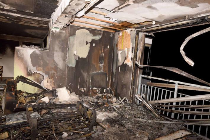 Wohnungsbrand  im Obergeschoss eines Mehrfamilienhauses in Alpnach ausgebrochen