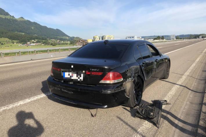 Verkehrsunfall mit BMW auf der A3 bei Bilten