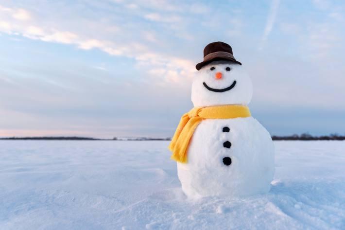 Tauen, Schmelzen oder Sublimieren - wie der Schneemann wohl wieder verschwindet? Quelle: WetterOnline