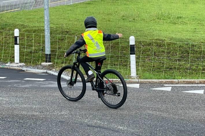 In Teufen AR fanden heute Fahrradprüfungen statt.