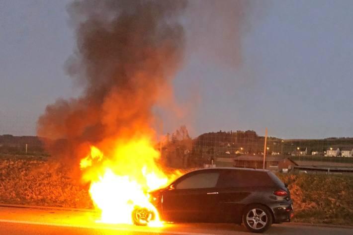 Plötzlich brannte der Alfa Romeo.