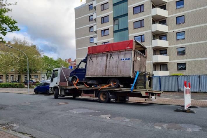 Güterverkehrkontrolle mit dem Schwerpunkt auf technische Mängel