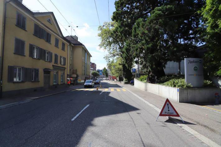 Unfallstelle St. Jakob-Strasse