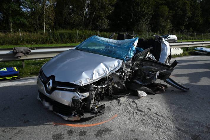 Geisterfahrer baut Unfall auf der A13 bei Oberriet