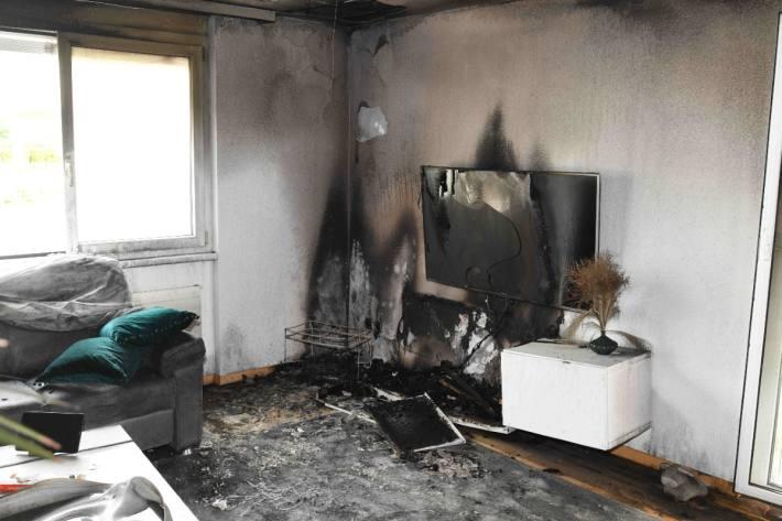 Der Fernseher dürfte den Brand gestern in Diepoldsau SG ausgelöst haben.