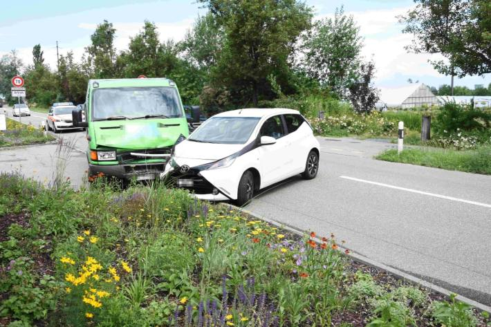 In Tübach SG kam es gestern zu einem verkehrsunfall.