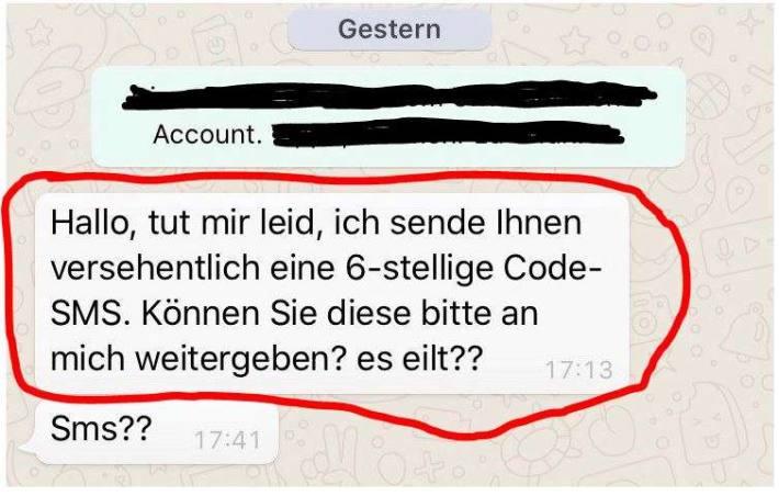 Screenshot WhatsApp Anfrage