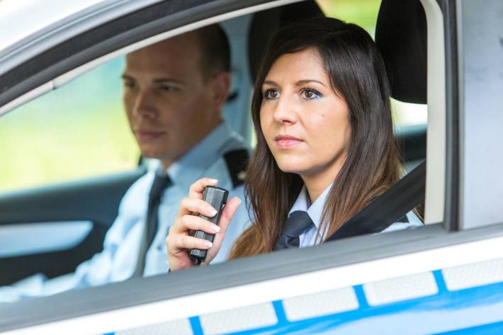In Gelsenkirchen wurde gestern ein Autofahrer nach einer Verfolgungsfahrt gestoppt.