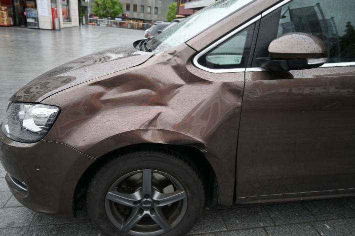 In Schaan FL kam es zu einem Unfall zwischen Radfahrer und Auto.