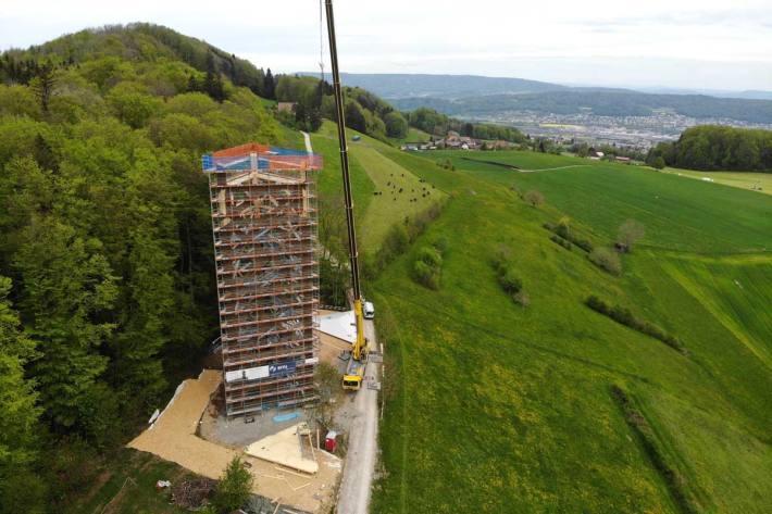 210 Stufen für eine Aussicht vom Säntis bis zu den Berner Alpen