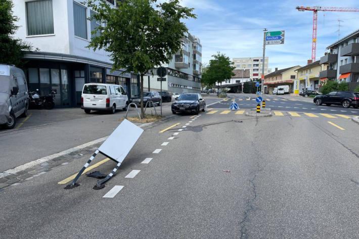 Eine der Unfallstellen in St.Gallen