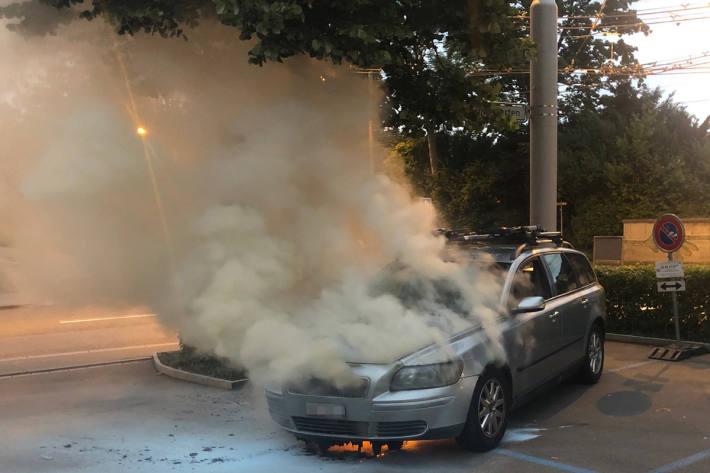 Fahrzeugbrand in St.Gallen