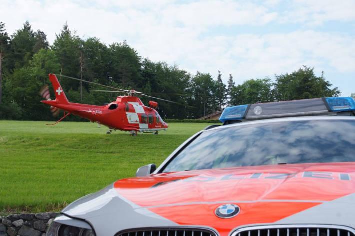 Die Rega war heute in Langenthal BE nach einem schweren Unfall im Einsatz. (Symbolbild)